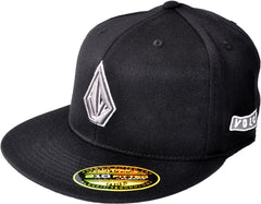 Volcom 2Stone 210 Men's Fitted Hat - Black