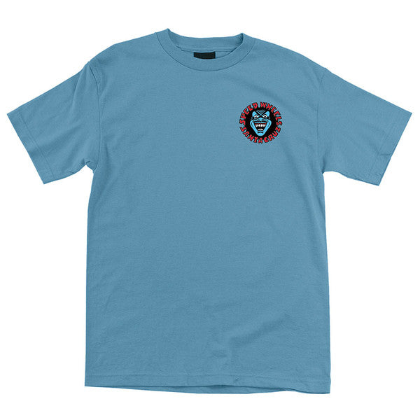 Santa Cruz Screaming Hand Regular S/S Mens T-Shirt - Carolina Blue