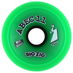 Abec 11 Big Zigs - Green - 75mm 78a - Skateboard Wheels (Set of 4)