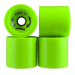 Abec 11 Centrax - Lime - 77mm 80a - Skateboard Wheels (Set of 4)