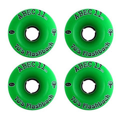 Abec 11 Flashbacks - Green - 70mm 81a - Skateboard Wheels (Set of 4)