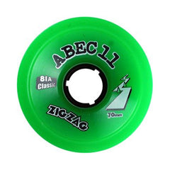 Abec 11 Zig Zags - Green - 70mm 81a - Skateboard Wheels (Set of 4)