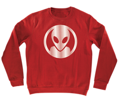 Alien Workshop Dot Moire Crew Men's Sweatshirt - Red