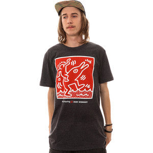 Alien Workshop Haring Dolphin Men's T-Shirt - Heather Black - Large
