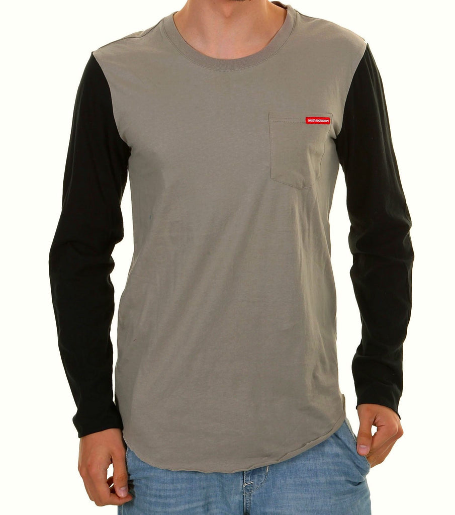 Alien Workshop Logic Long Sleeve Men's T-Shirt - Grey