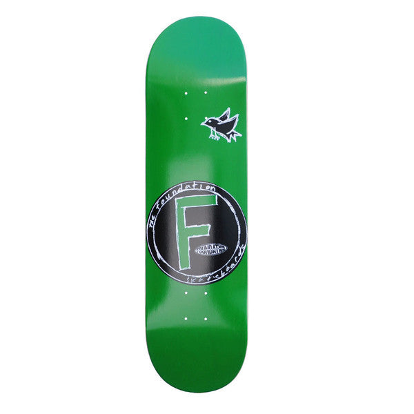 Foundation Bird PP Skateboard Deck - Green - 8.0in