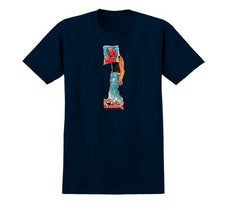 Krooked Box Head Premium S/S - Navy - Men's T-Shirt