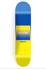 Chocolate Berle Fader Skateboard Deck - Blue/Yellow - 8.5in