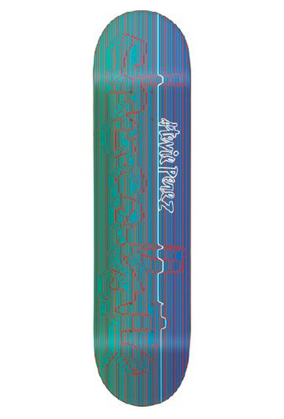 Chocolate Perez Division Pop Secret Skateboard Deck - Blue/Green - 8.5in