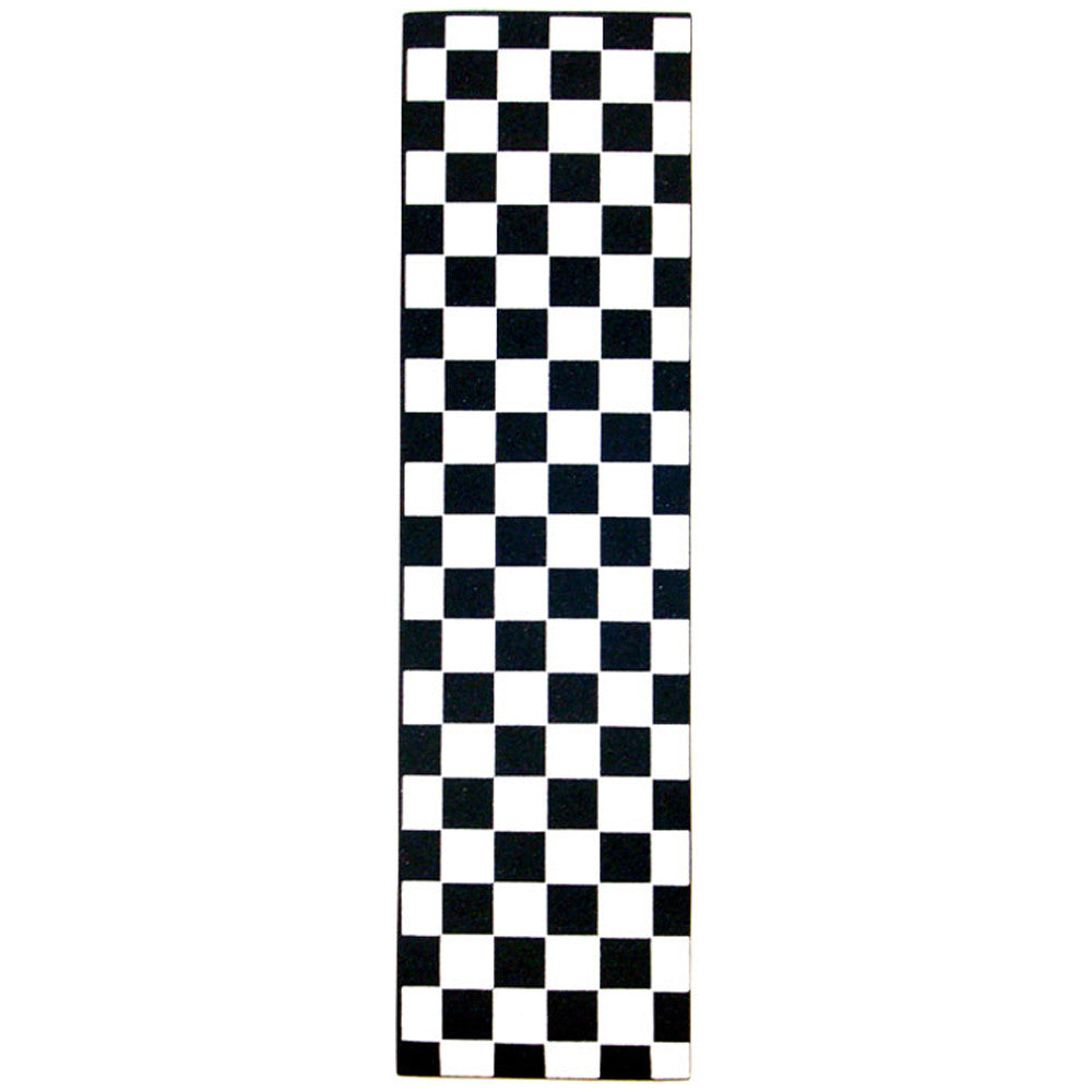 FKD Grip Checkers - Black/White - Skateboard Griptape (1 Sheet)