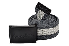 Chocolate Striped Scout - Grey/Black - Men's Belt