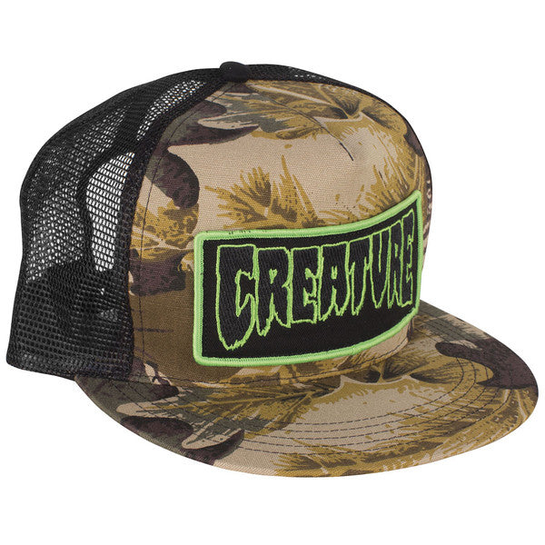Creature Patch Men's Trucker Hat - Camo/Black