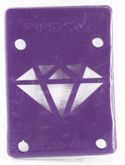 Diamond Skateboard Riser - 1/8 - Purple (2 PC)