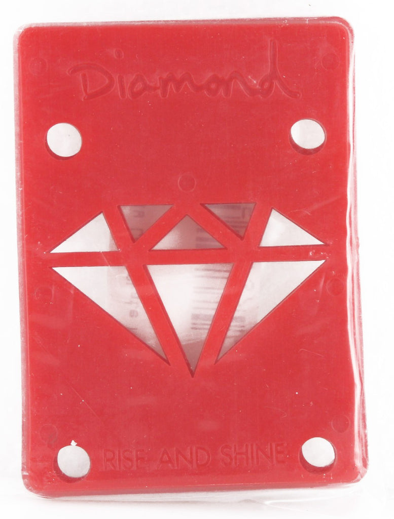 Diamond Skateboard Riser - 1/8 - Red (2 PC)