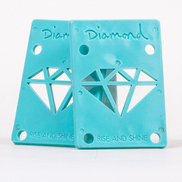 Diamond - Blue - 1/8in - Skateboard Riser (2 PC)