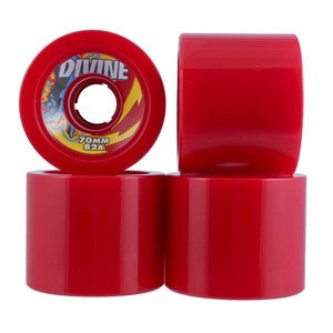 Divine Road Rippers Skateboard Wheels 70mm - Red (Set of 4)