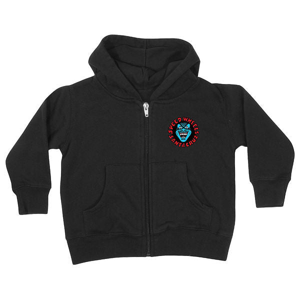 Santa Cruz Screaming Hand Hooded Zip L/S - Black - Men's Sweatshirt