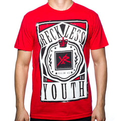 Young and Reckless Crowned Men's T-Shirt - Red