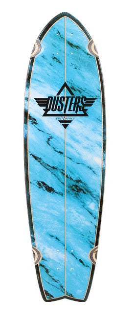 Dusters Kosher Cruiser Skateboard Deck w/ Clear Grip Tape - Blue - 9.5in x 33in -