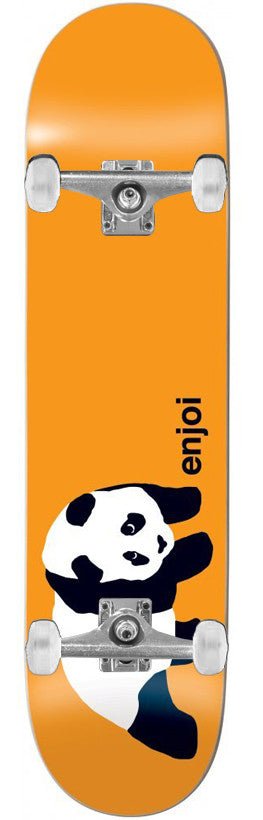 Enjoi Original Panda Complete Skateboard - 7.5 - Orange