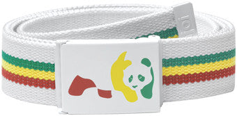 Enjoi Rasta Panda Web Belt - White