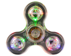 Warrior Light Up LED Fidget Spiner - Clear