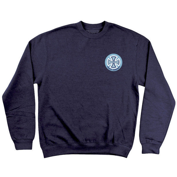 Independent 78 TC Chest Crew Neck Long Sleeve Men's Sweatshirt - Navy Heather