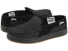 Globe Castro - Black/White Pinstripe - Skateboard Shoes