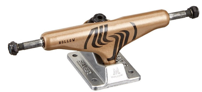 Silver M Class Hollow - Gold/Silver - Blemished - 8.25in - Skateboard Trucks (Set of 2)