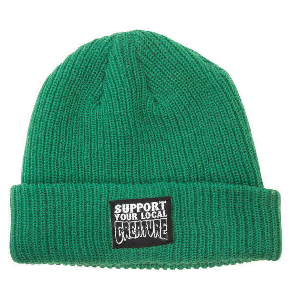 Creature Support Long Shoreman Men's Beanie - One Size Fits All - Hunter Green