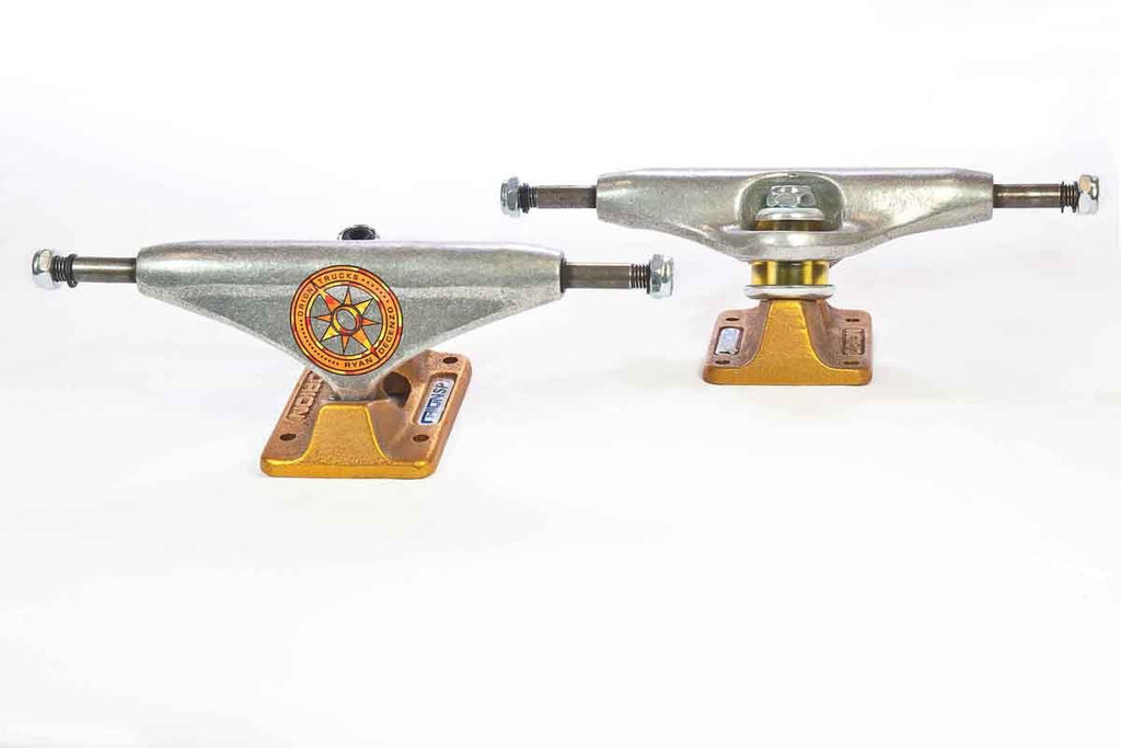 Orion Superior Ryan Decenzo Pro Skateboard Trucks - 140mm - Silver/Gold (Set of 2)