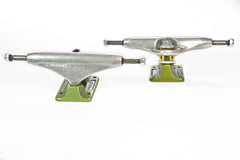 Orion Superior OG Polished Skateboard Trucks - 140mm - Silver/Green (Set of 2)