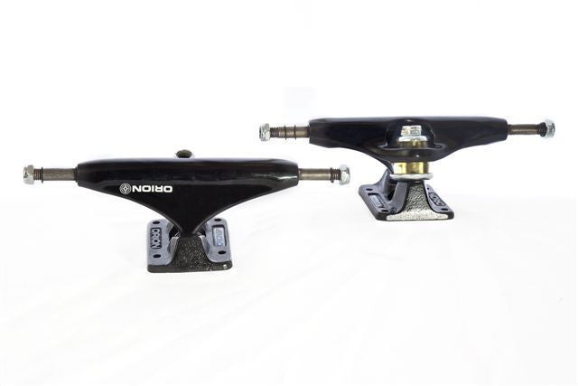 Orion Superior Black Out Skateboard Trucks - 140mm - Black/Black (Set of 2)
