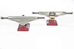 Orion Superior OG Polished Skateboard Trucks - 150mm - Silver/Red (Set of 2)