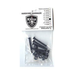 "Khiro Hardcore Phillips Bolts Trusshead - 1 3/4"" - Skateboard Mounting Hardware"