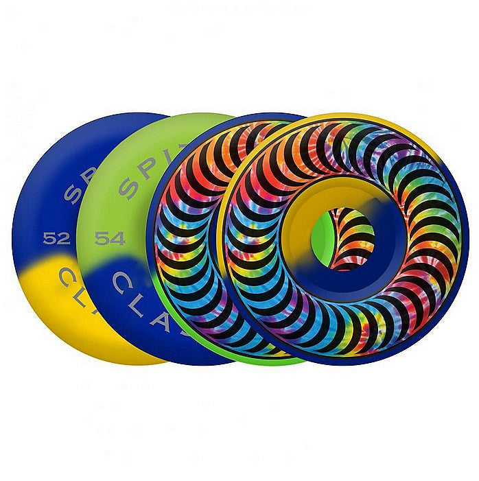 Spitfire Classic Tie Dye Swirl Mash Skateboard Wheels 52mm - Multi (Set of 4)