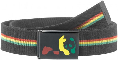 Enjoi Rasta Panda Web Belt - Black