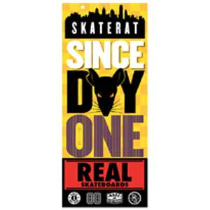 Real Since Day One Bold Skate Rat Sticker - Medium - Assorted Colors