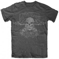 Lynyrd Skynyrd Band Biker Patch T-Shirt - Dark Heather