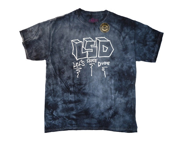 Krooked LSDude S/S - Black/Tie Dye - Men's T-Shirt