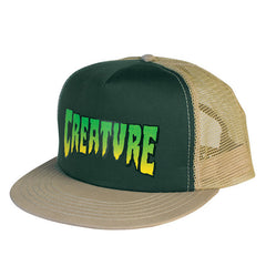 Creature Logo Men's Trucker Hat - Hunter/Khaki
