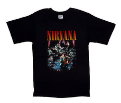 Nirvana Band Love Concert Photo Band T-Shirt - Black