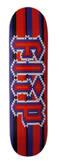 Flip Team Poncho Skateboard Deck - Maroon/Purple - 8.0in