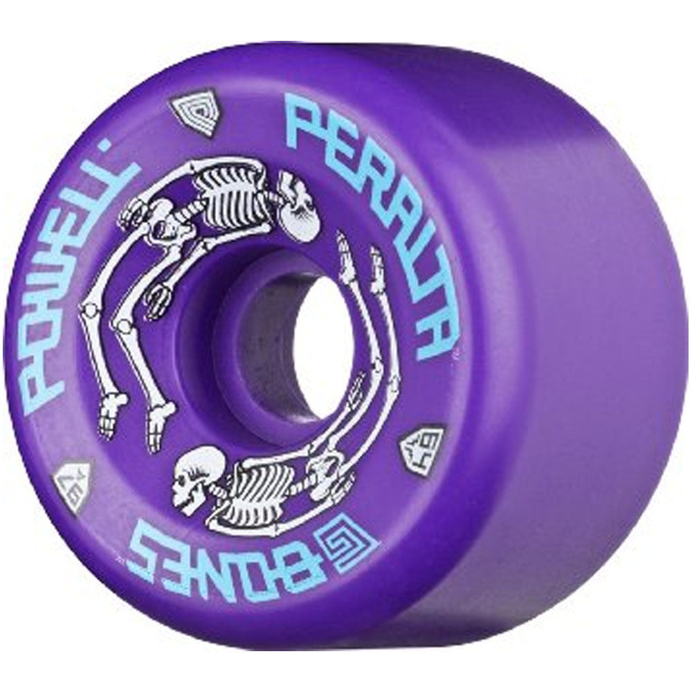 Powell Peralta G Bones Skateboard Wheels 64mm - Purple (Set of 4)