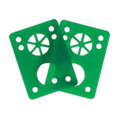 Riot Gear Riser Vibra Pads - Green - 1/8in - Skateboard Riser (2 PC)