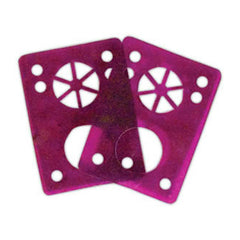 Riot Gear Riser Vibra Pads - Purple - 1/8in - Skateboard Riser (2 PC)
