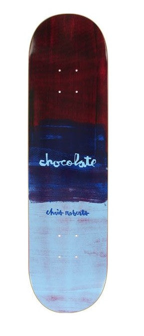 Chocolate Roberts Subtle Square Skateboard Deck - Red/Navy/Blue - 7.75in x 31.125in