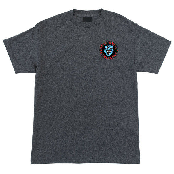 Santa Cruz Screaming Hand Regular S/S Mens T-Shirt - Charcoal Heather