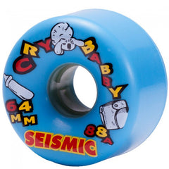 Seismic Cry Baby - Baby Blue - 64mm 88a - Skateboard Wheels (Set of 4)