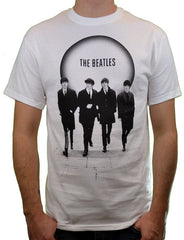 The Beatles Band White Circle Group Photo T-Shirt - White